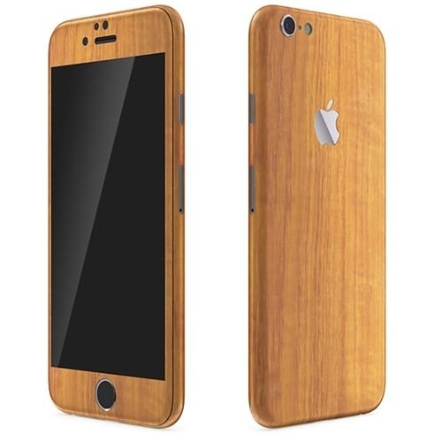 Kapa Full Body Wood Finish Vinyl Skin Sticker Cover for Iphone 6 6S - Dark Brown