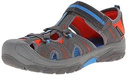Merrell Hydro Hiker Hiker Running Shoe (Toddler/Little Kid/Big Kid),Grey/Blue,5 M US Big Kid