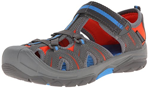 Merrell Hydro Hiker Running Shoe (Toddler/Little Kid/Big Kid),Grey/Blue,5 M US Big Kid