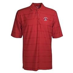 Arizona Wildcats Polo - NCAA Antigua Mens Tone Dark Red by Antigua