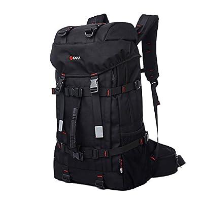KAKA Backpack Daybag Waterproof Climbing Hiking Camping With Coded Lock Black#2010
