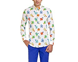 Color-Buckket Men's Casual Shirt_CB502_White_L