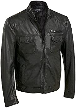 Wilsons Web Buster Faux-Leather Mens Jacket