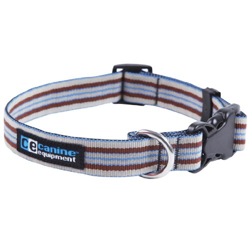 Canine Equipment Ultimate 3/4-Inch Utility Dog Clip Collar, Medium, Brown Stripes