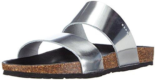 ESPRITAnita Metallic - Sandali aperti Donna , Argento (Silber (090 silver)), 40
