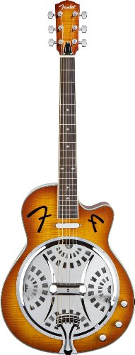 Fender Fr-50 Acoustic Electric Resonator Guitar, Sunburst