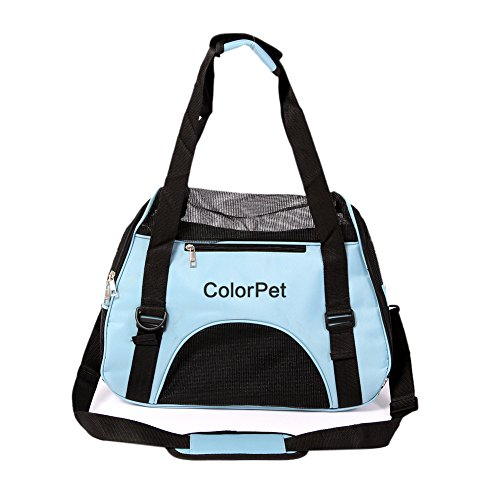 Soft-Sided Pet Carrier, Comfortable Carrier, Adjustable and Foldable, Airline Approved Pet Travel Carrier