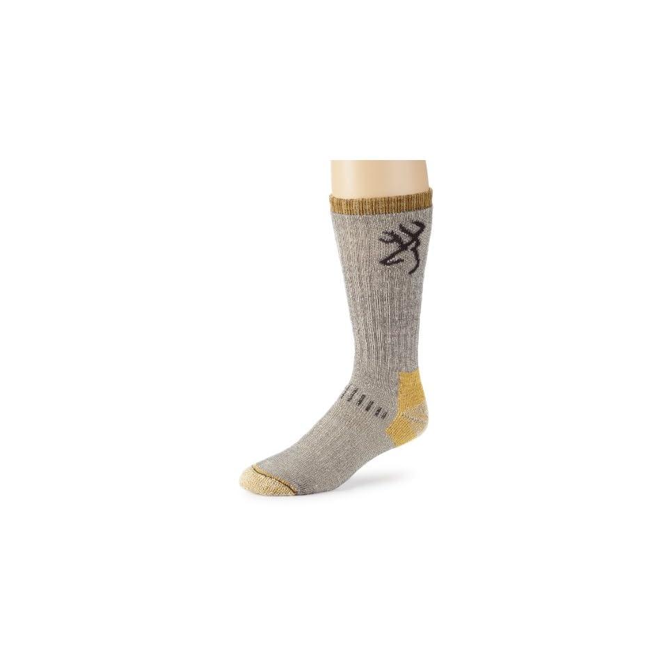 Browning Hosiery Mens Uplander Merino Wool Sock, 2 Pair Pack