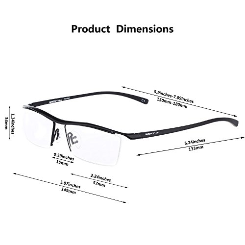mens glasses frames ray ban  semi-rimless eyeglasses
