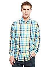 Blue Harbour Supersoft Pure Cotton Block Checked Shirt