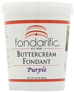 Fondarific Buttercream Purple Fondant, 2-Pounds