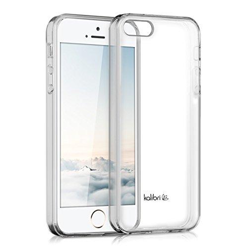 kalibri-Crystal-Case-Hlle-Sunny-fr-Apple-iPhone-SE-5-5S-transparente-Kunststoff-Schutzhlle-mit-TPU-Silikon-Rahmen-in-Transparent