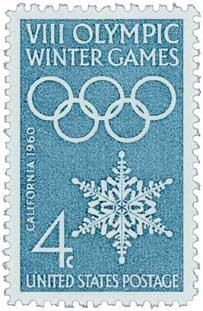 #1146 - 1960 4c 8th Winter Olympic Games Postage Stamp Numbered Plate Block (4)