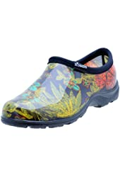 """Sloggers  Women's Rain and Garden Shoe with """"All-Day-Comfort"""" Insole, Midsummer Black Print - Wo's size 8 - Style 5102BK08"""