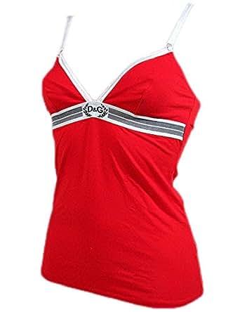 "DOLCE & GABBANA D&G ""Goddess 3O"" femme camisole élastique coton (rouge/blanc)"