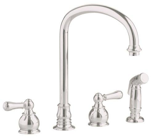 American Standard 4751.732.295 Hampton Undermount Gooseneck Faucet with Spray, Satin Nickel (Antique Nickel Faucet compare prices)