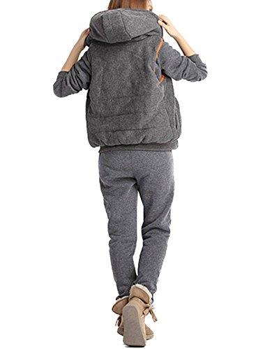 ZANZEA-Femme-Automne-Hiver-Hoodie-CoatVestPant-3-en-1-Jumper-Sweater-Suit-Survtement-Jacket-Outwear