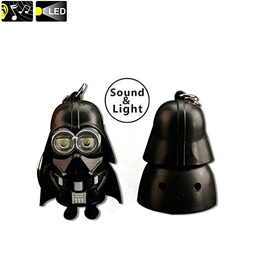 [Popular Gifts Keychain 2 in 1 Light and Sound Keychain Minigures M-I-N-I-O-N-S in StarWars Cosplays, 2 Color Model] (Astronauts Star Wars)