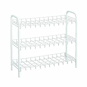 Wire World 9-Pair Shoe Rack, White