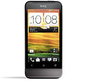 HTC T320e One V Unlocked Android Smartphone with Beats Audio, 5MP Camera, Bluetooth, Wi-Fi, 4GB(capability with external storage), HD Video - Unlocked Phone - No Warranty - Black by HTC