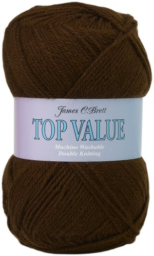 500g Top Value Double Knitting Yarn by James Brett (Brown 841) [Baby Product]