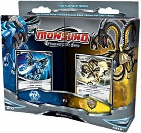 Monsuno Topps Trading Card Game 2-Player Starter Deck Core-Tech VS. S.T.O.R.M.