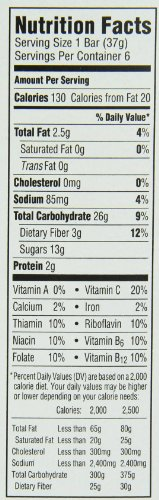 Health Valley Organic Multigrain Cereal Bars, Strawberry Cobbler, 6 Bars (Pack of 6)