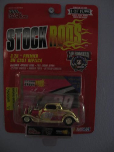 Stock Rods 1934 Gold Ford Coupe Issue # 97 Jeff Burton #99 1/64 scale Diecast with collectible card 50th Anniversary Limited Edition
