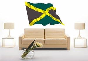 WANDTATTOO ls76 Jamaica  Jamaika 180 cm farbig / bunt als Fahne   Kundenbewertung und Beschreibung
