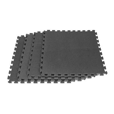 Stalwart 75-6402 Hawk Ultimate Comfort Black Foam Flooring, 16-Square Feet