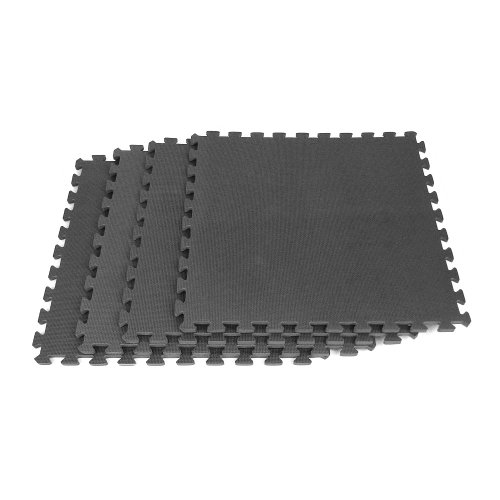 Trademark ToolsT Ultimate Comfort Black Foam Flooring - 4 pc