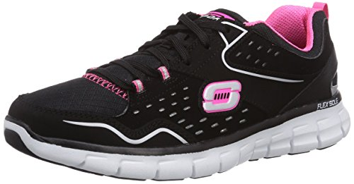 Skechers (SKEES) - Synergy - Front Row, Scarpa Tecnica da donna, nero (bkhp), 36