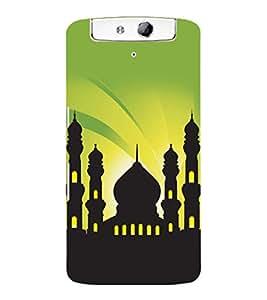 printtech Allah Muslim God Back Case Cover for Oppo N1