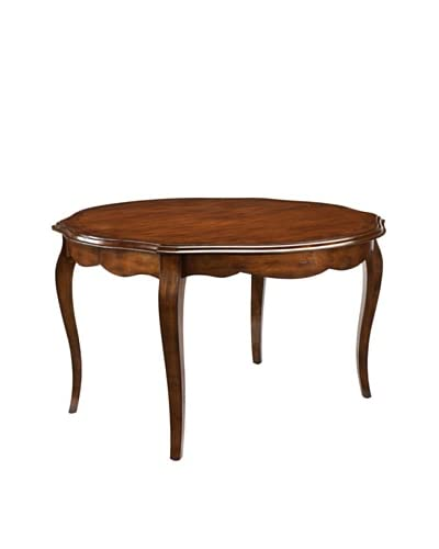 French Heritage Passy Round Dining Table, Antique Cherry