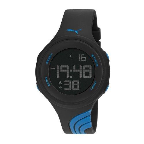 [プーマ] PUMA 腕時計 Men's Twist L Blue Black Digital Display Quartz Black Watch クォーツ PU911091006 メンズ [バンド調節工具&高級セーム革セット]【並行輸入品】