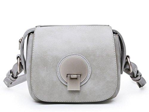 GQQ NUOVE borse a tracolla borse moda PU Dacron per Shopping Party e borsa lavoro GQ @ , gray