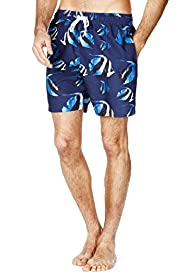 Blue Harbour Fish Print Quick Dry Swim Shorts