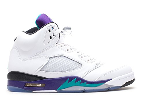 stevenok Leather Basketball Shoes Air Jordan 5 Retro grape 2013 release White new emerald grp ice blk 011744 1 Athletic Sport Basketball Running Sneaker (Grape Retro 13 Jordan Shoes compare prices)