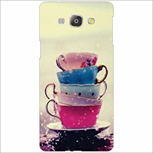 Samsung Galaxy A8 Back Cover - Silicon Lets Chat & Coffee Designer Cases