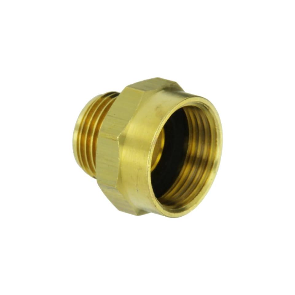 Moon 357 1010751 Brass Fire Hose Adapter, Nipple, 1 NPSH Female x 3/4 GH Male