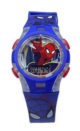 Ultimate Spider-Man Web-Warriors Lights Kid's LCD Watch Blue