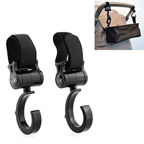 2Pcs-Multi-Function-Baby-Prams-Strollers-Pushchair-Swivel-Strap-Clothes-Hooks