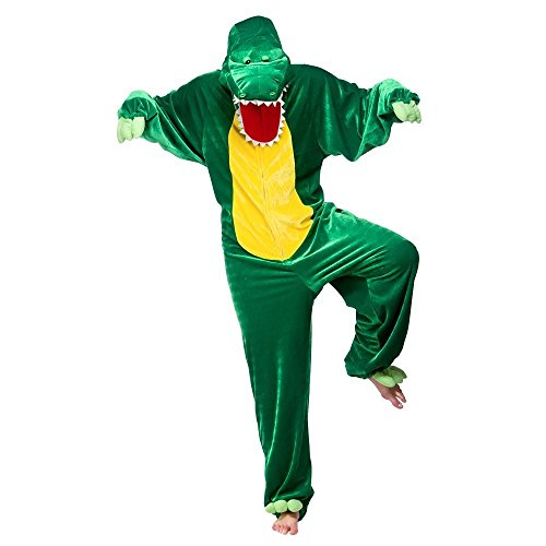 Crocodile Adults Jungle Animal Fancy Dress Costume Crocodile Onesie Men's Ladies