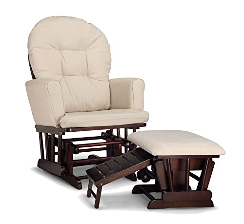 Graco Parker Semi-Upholstered Glider and Nursing Ottoman, Espresso/Beige