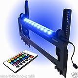 M&G Techno® TV Wandhalterung mit Neigung +15°/-15° und 16 Farben LEDs Beleuchtung mit Fernbedienung und 6 Funktionen L2-4+B