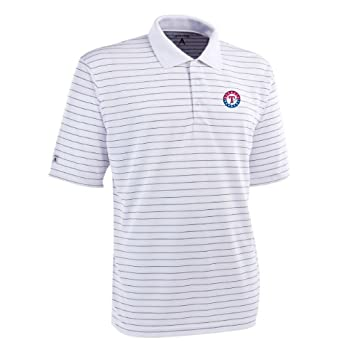 MLB Mens Texas Rangers Elevate Desert Dry Polo by Antigua