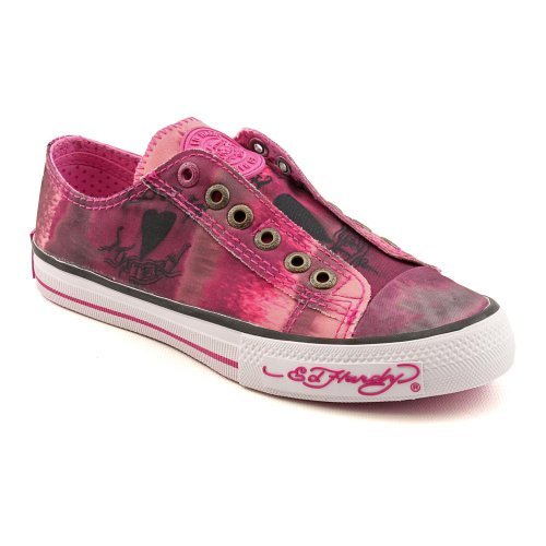 Ed Hardy Dip Dye Womens Size 8 Pink Fuchsia Textile Athletic Sneakers Shoes