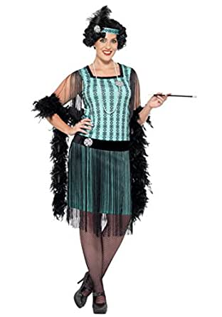 Smiffys womens Women's Plus Size 1920s Mint Coco Flapper Costume