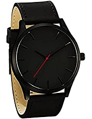 Zillion Signature Classic Black Dial Black Strap Analog Watch For Men