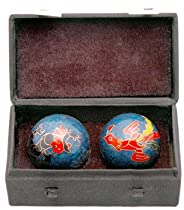 "Good Great Best Simple Inexpensive Gifts 2011 - 1.5"" Asian Cloisonne Health Balls - 3 Designs"